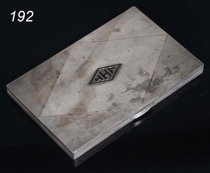 "192: ASPREY STERLING CIGARETTE CASE 5""x 3 1/4""x 3/8"" 6."
