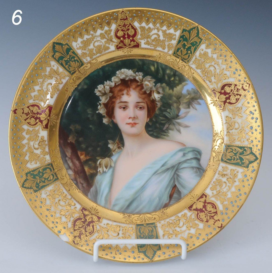 6: DRESDEN PORTRAIT PLATE mark of Richard Klemm 9 1/2""