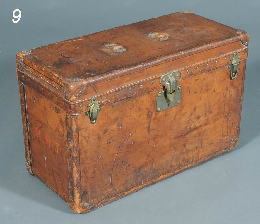 """9: LOUIS VUITTON TRUNK unusual small size 15""""x 24""""x 11"""""""