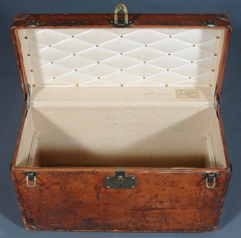 """9: LOUIS VUITTON TRUNK unusual small size 15""""x 24""""x 11"""" - 2"""