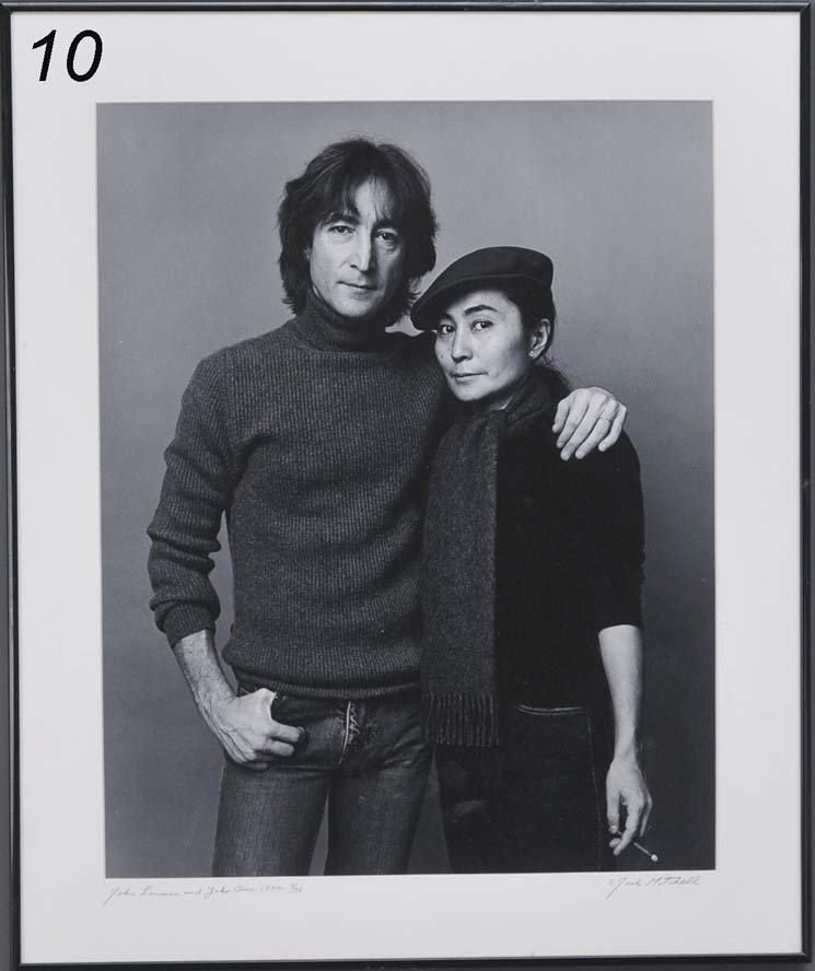 10: JACK MITCHELL Portrait of John Lennon and Yoko Ono