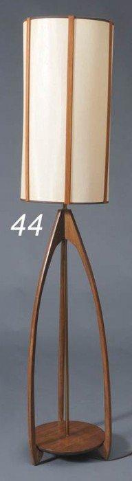 "DANISH MODERN ""ROCKET SHIP"" FLOOR LAMP 60"" High   S"