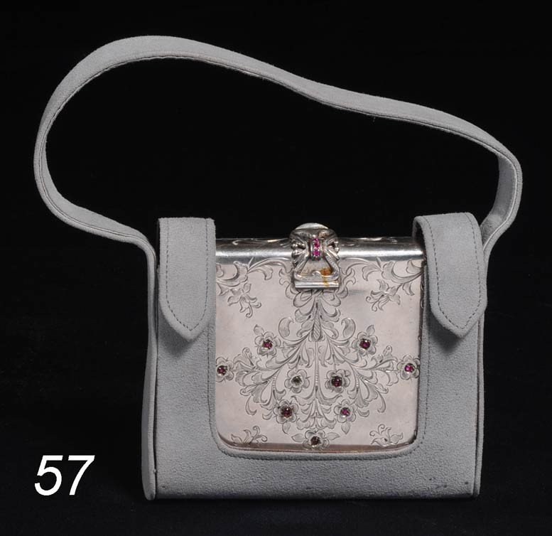 57: CONTINENTAL .800 SILVER COMPACT possibly Boucheron,