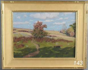 """143: BEN FOSTER Landscape with Shadows 15""""x 20"""" oil on"""