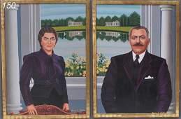 150: DROSSOS SKYLLAS Pair of Portraits Pete and Katrina
