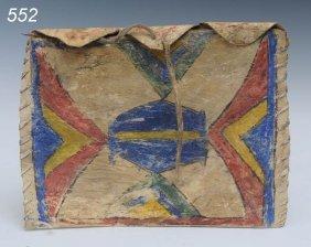 """PLAINS PARFLECHE BAG 10""""x 7 1/2"""" 19th Century  Shi"""