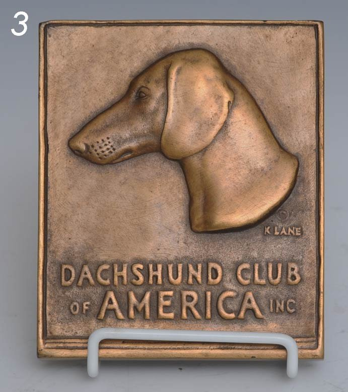 3: KATHERINE WARD LANE WEEMS Dachshund Club Plaque 5 3/