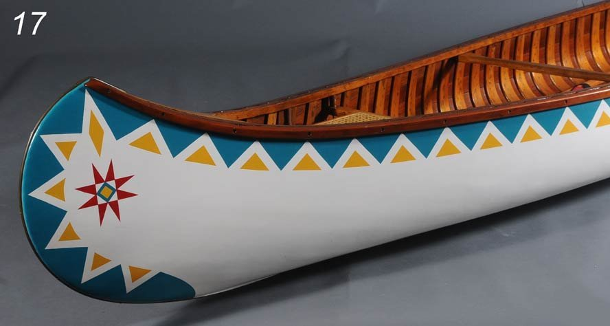 17: OLD TOWN CANOE, 16' long, with two paddles   Shippi