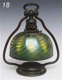 "18: TIFFANY STUDIOS DESK LAMP with 7"" Tiffany Favrile s"