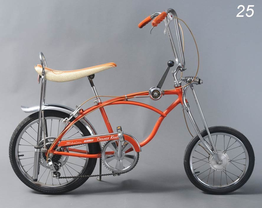 "25: SCHWINN STING RAY BICYCLE ""Orange Krate"" model, unt"