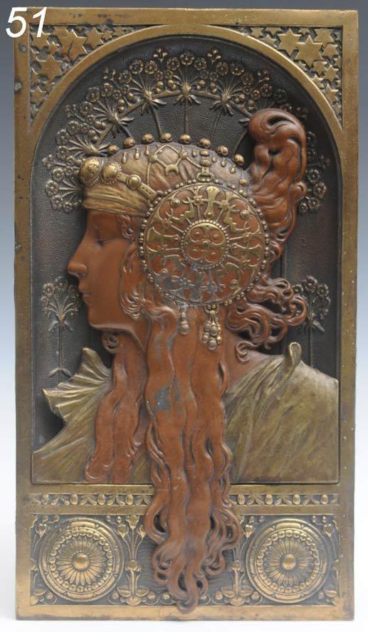 51: ART NOUVEAU PLAQUE the design attributed to Alphons