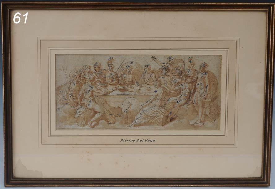 61: attributed to PIERINO DEL VAGA Feast of the Gods 5