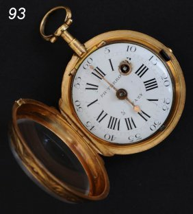 TERROT & FAZY FUSSEE 18K GOLD POCKET WATCH Geneva,