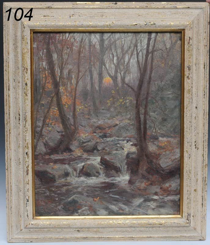 """104: HAL ROBINSON Forest Interior 16""""x 20"""" oil on canva"""