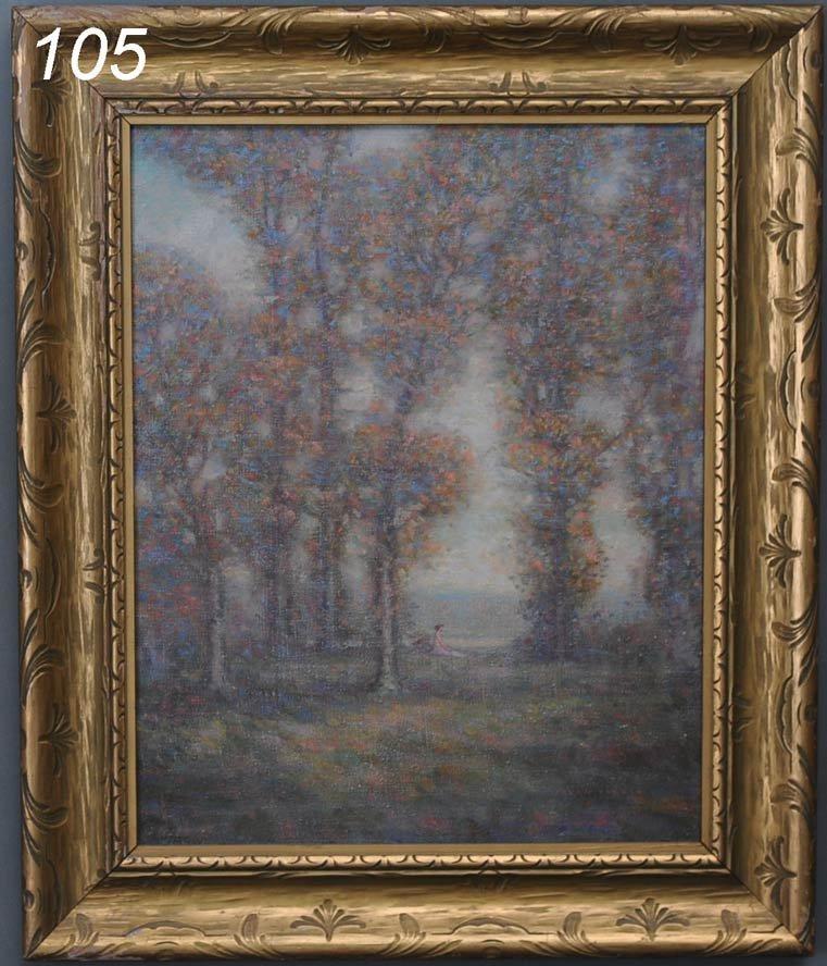 """105: VAN EVEREN Solitude 20""""x 16"""" oil on canvas signed"""