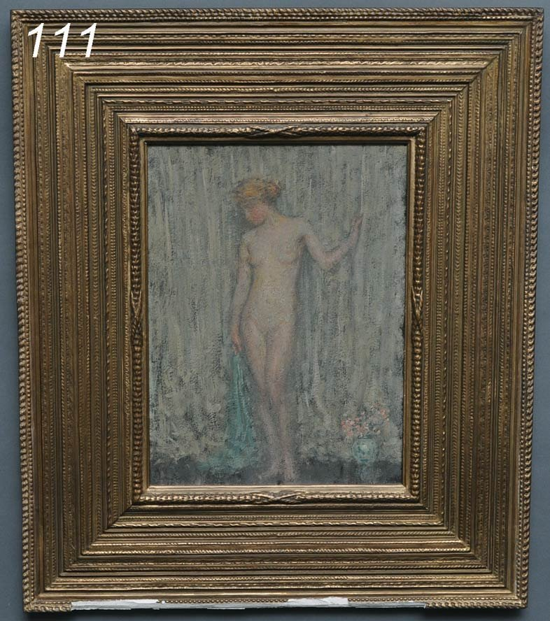 """111: WILL HOWE FOOTE Standing Nude with Flower Vase 16"""""""