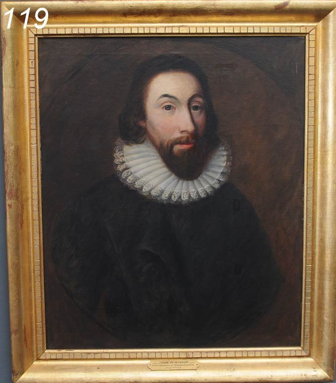 119: PORTRAIT OF JOHN WINTHROP 1st Governor of Massachu