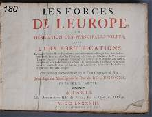 180: ATLAS-LEES FORCES DE L'EUROPE Nicolas de Fer, 1693