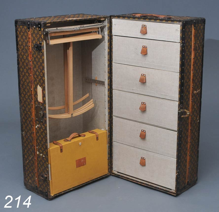 214: LOUIS VUITTON WARDROBE TRUNK with fitted interior