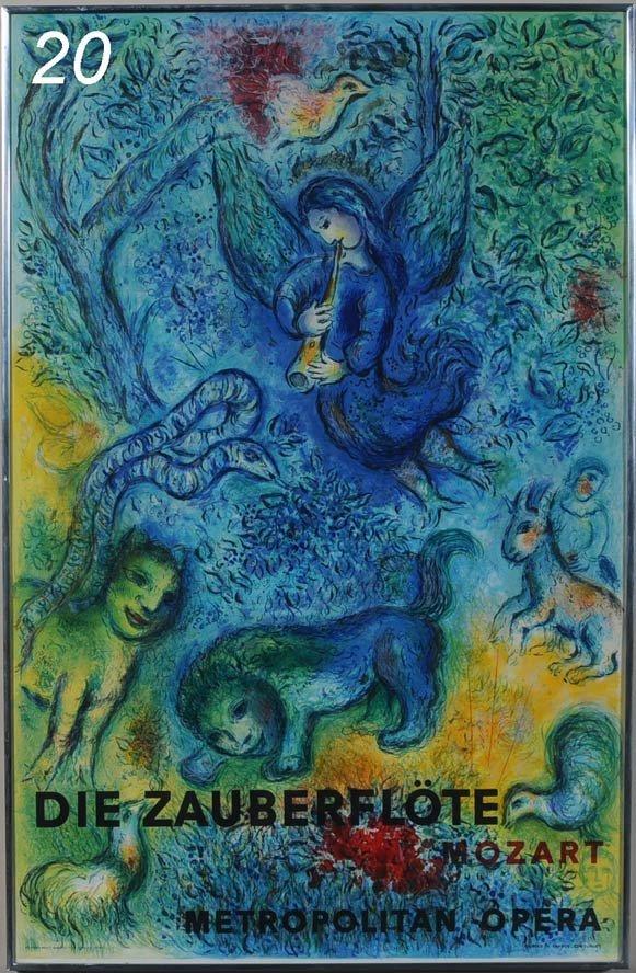 "20: MARC CHAGALL Die Zauberflote, 1967 39 3/4"" x 25 3/4"