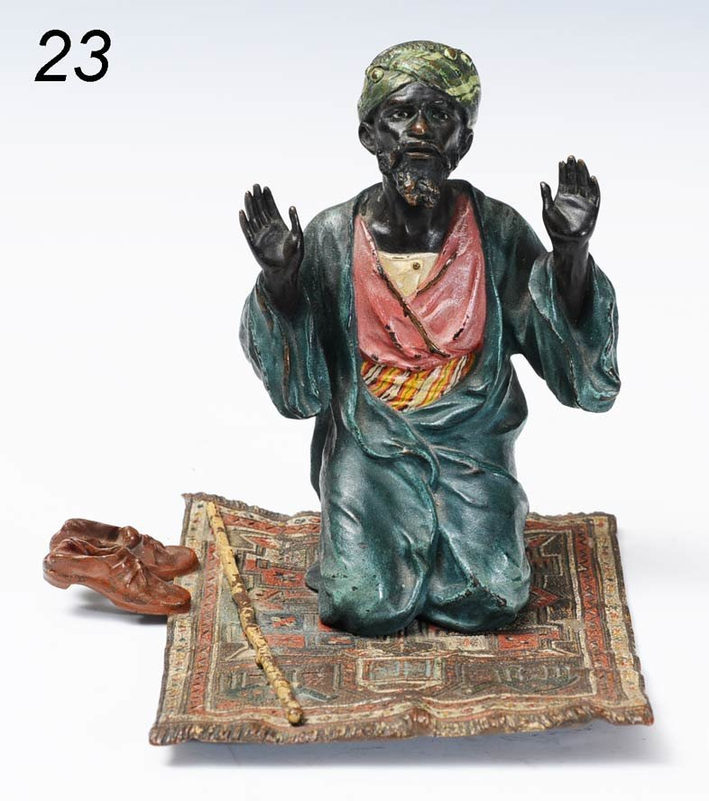 23: COLD PAINTED VIENNA BRONZE Arab on a Flying Carpet