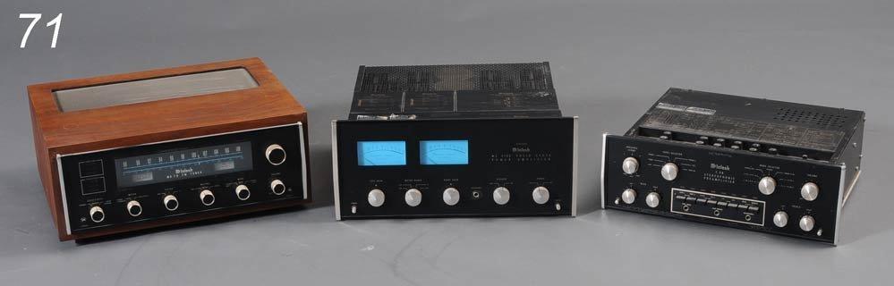 71: MCINTOSH MC 2105 AMP, C28 PRE-AMP, AND MR78 TUNER