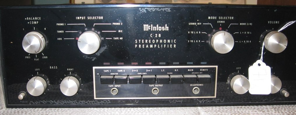 71: MCINTOSH MC 2105 AMP, C28 PRE-AMP, AND MR78 TUNER - 5