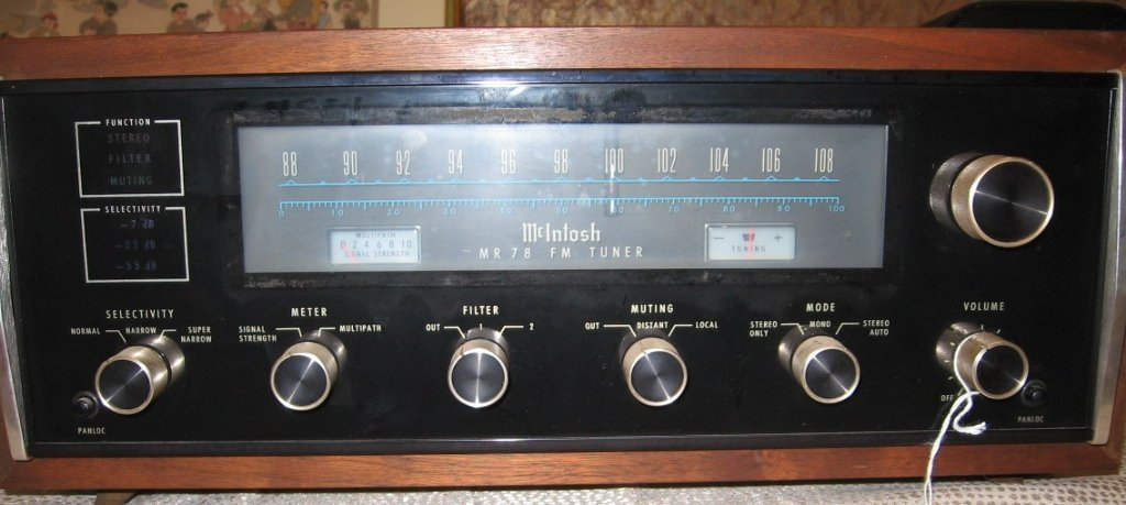 71: MCINTOSH MC 2105 AMP, C28 PRE-AMP, AND MR78 TUNER - 8