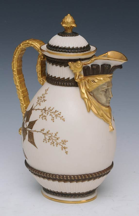 7: Royal Worcester Porcelain Pitcher