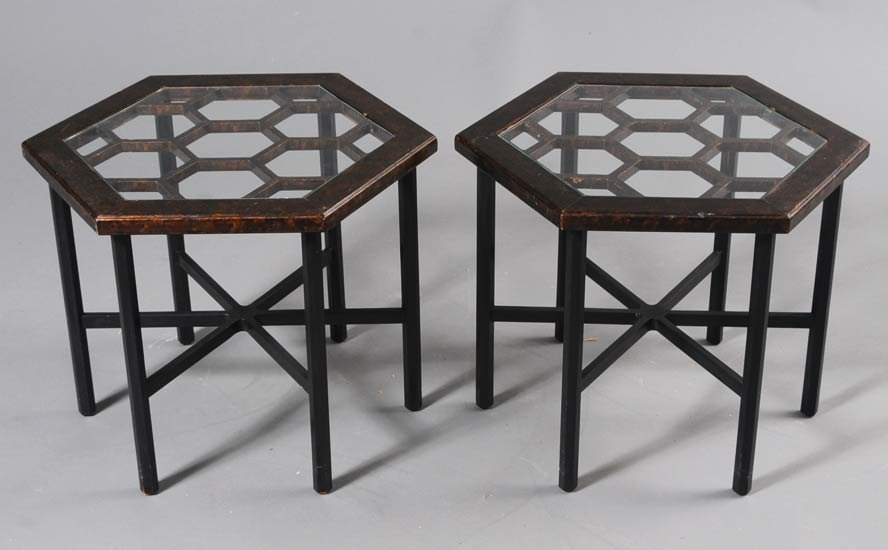 18: Pair of Widdicomb Side Tables