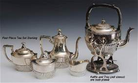147 Whiting Four Piece Sterling Tea Set