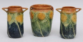 5: Group of Three Roseville Vases