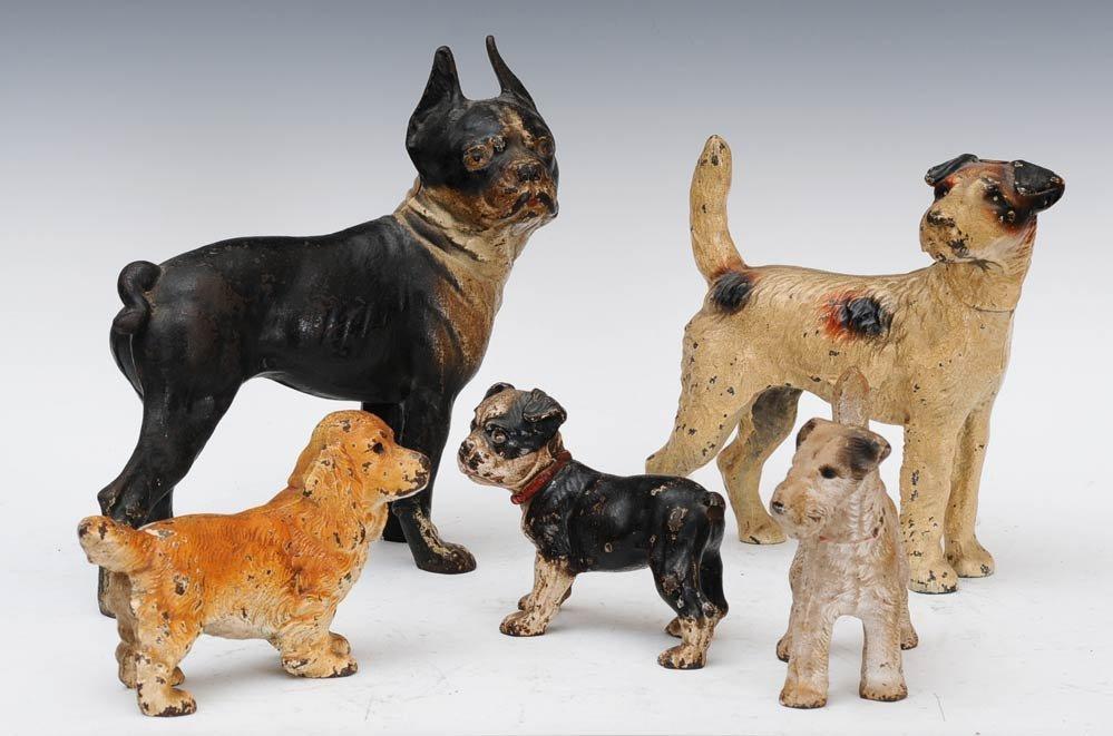 9: Group of Five Cast Iron Dog Door Stops