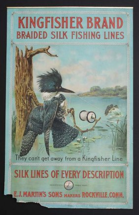 Kingfisher Brand Fishing Line Poster