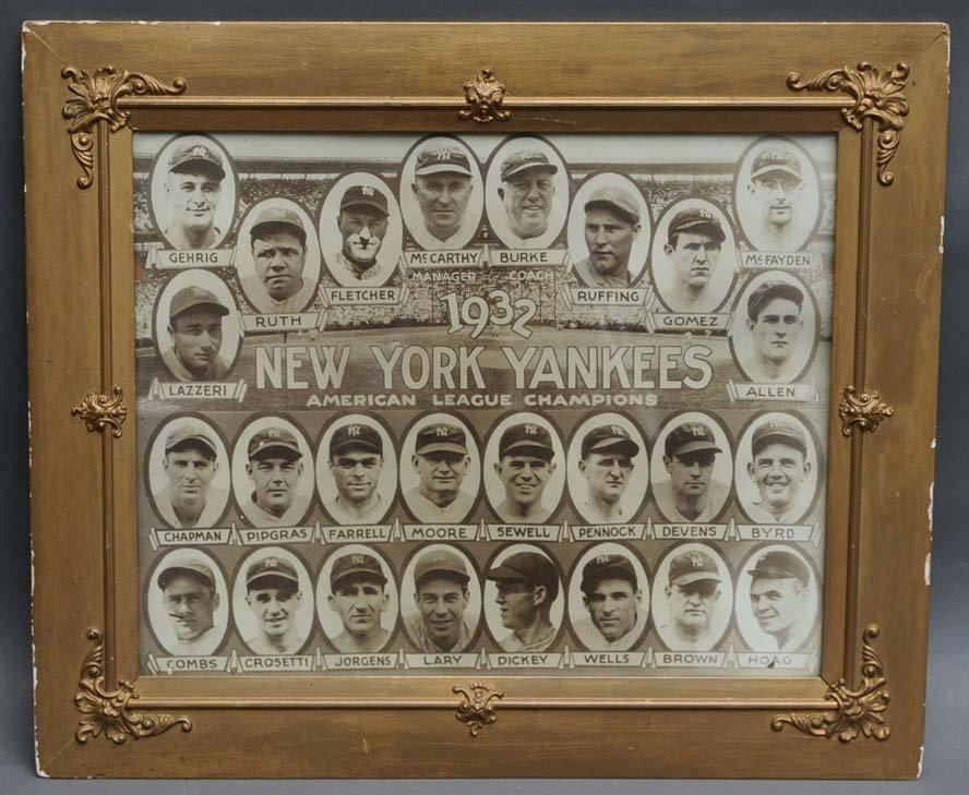 17: 1932 New York Yankees Team Portrait