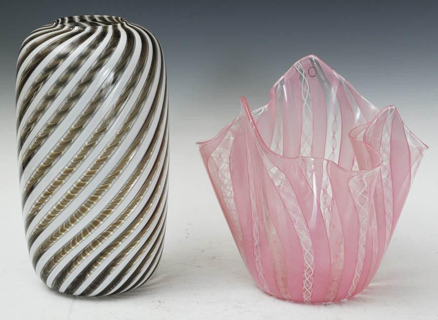 19: Pair of Venini Art Glass Vases