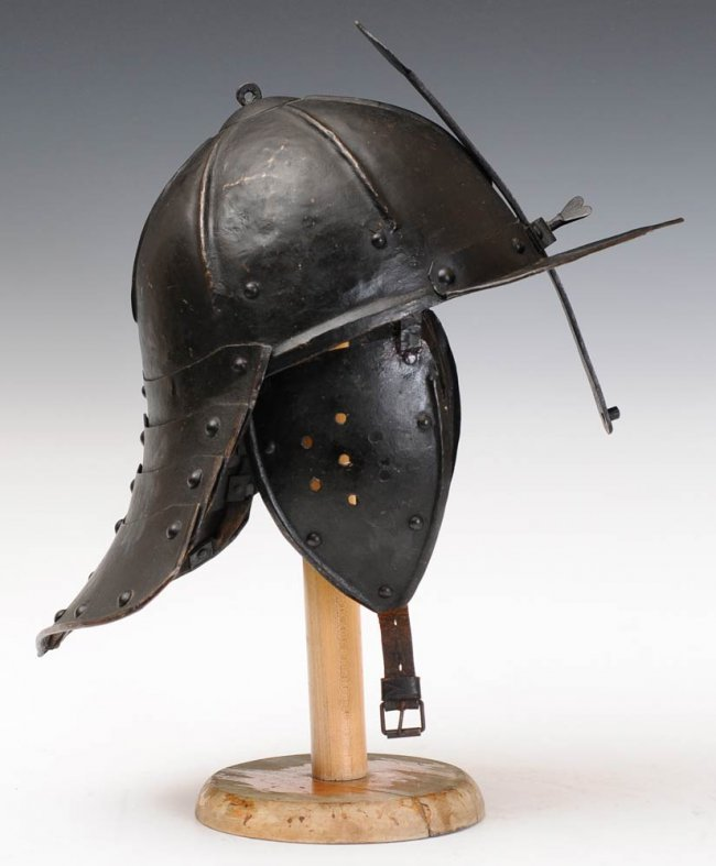 "179: English Iron ""Lobster Tail"" Helmet"