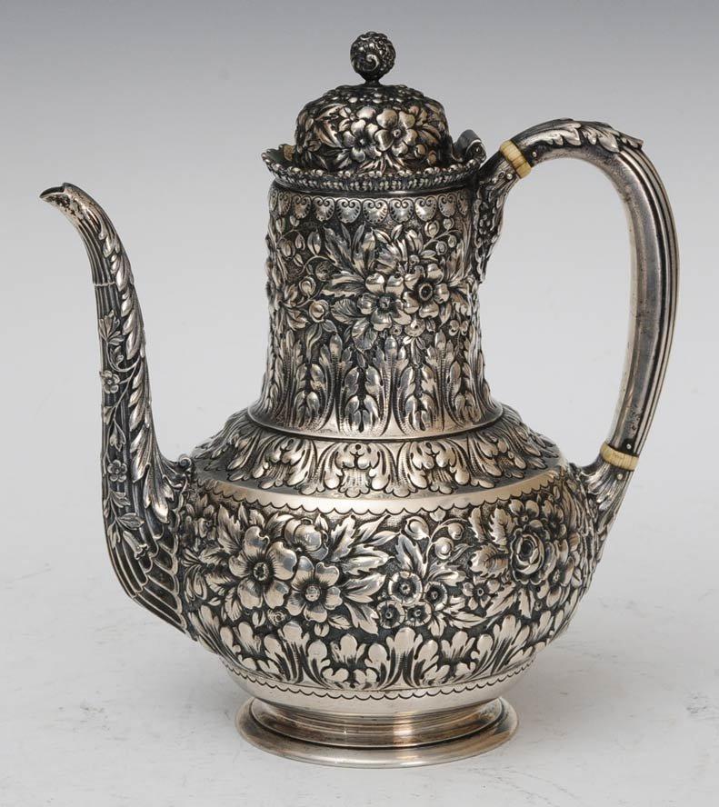 216: Tiffany & Co. Sterling Repousse Teapot