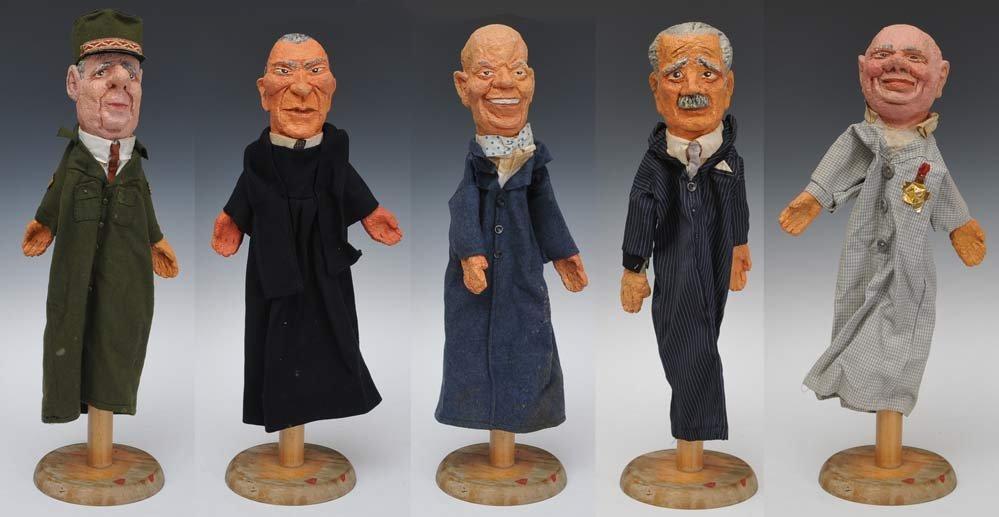 Five Cold War Hand Puppets
