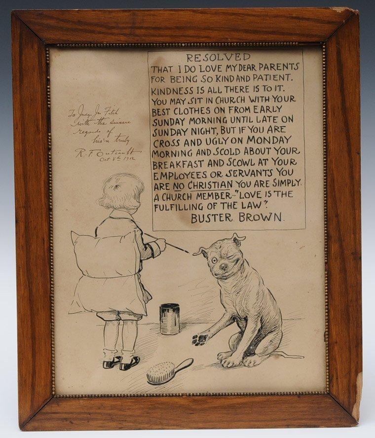 Original Buster Brown Illustration