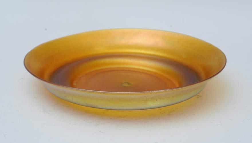 Quezel Art Glass Low Bowl