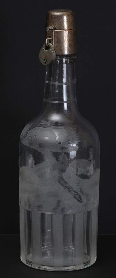 Hawkes Etched Golf Decanter