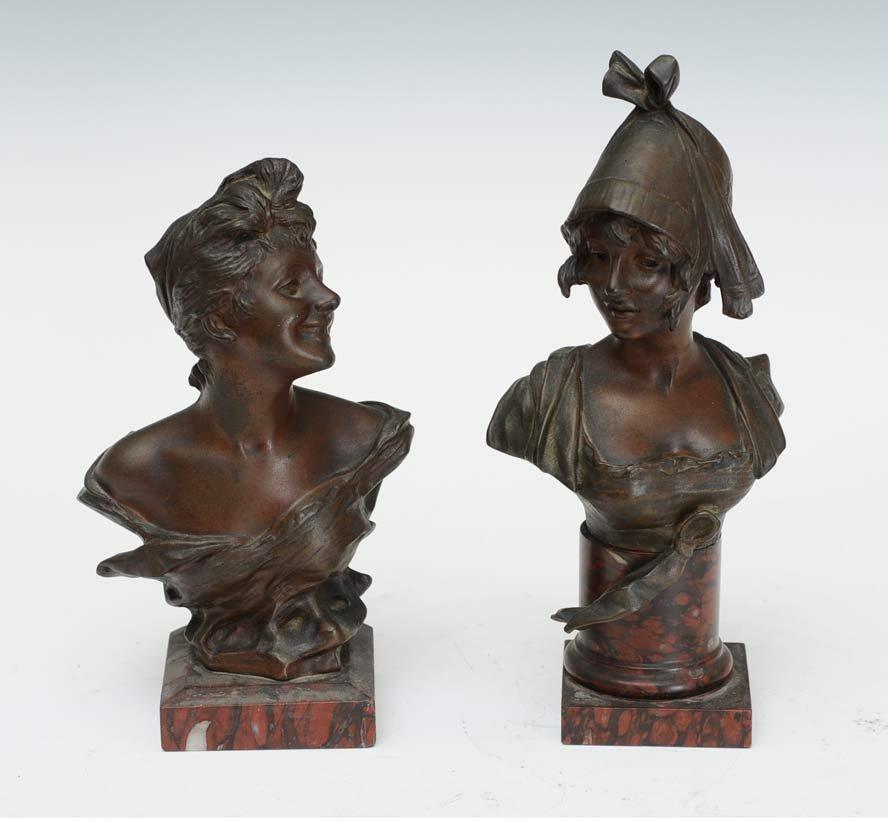 George Van Der Straten Bronze Busts