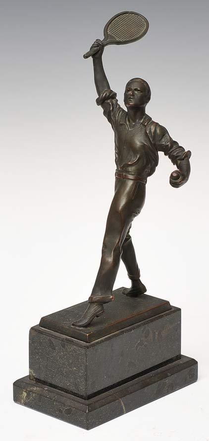 Bronze Figure of a Tennis Player