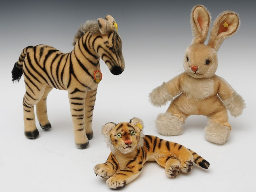 Group of Three Steiff Animals