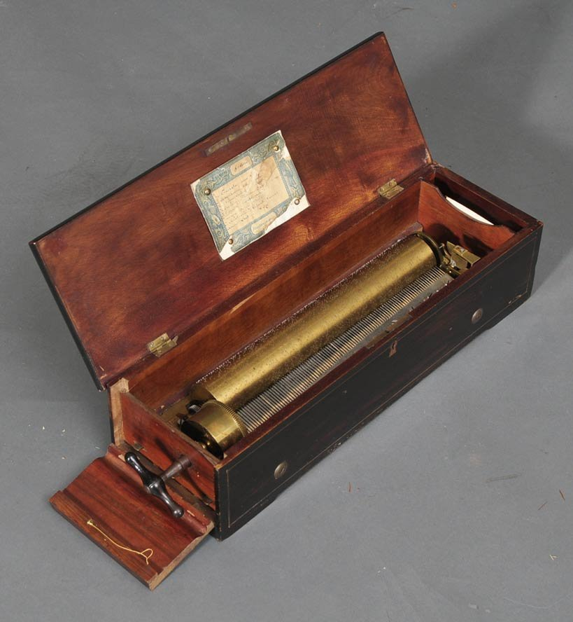 Early Key Wind Swiss Cylinder Music Box
