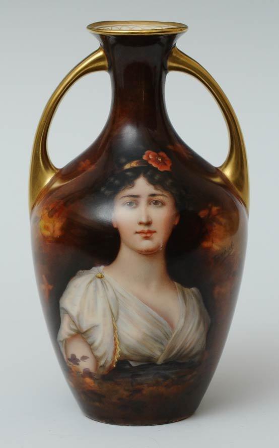 Royal Vienna Style Portrait Vase