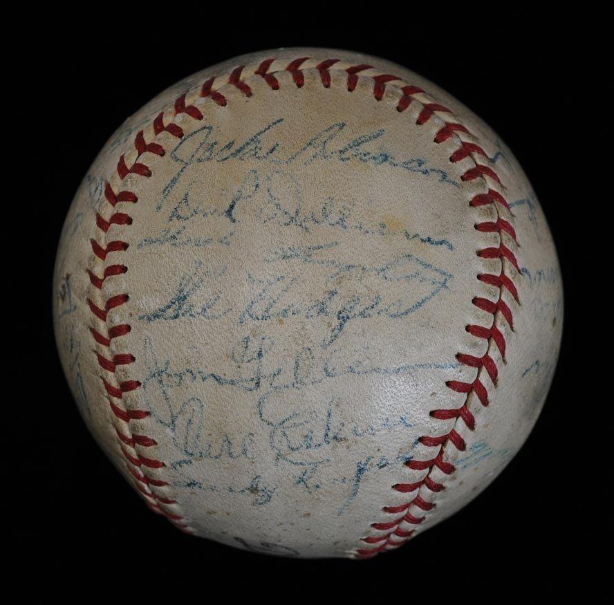 Brooklyn Dodgers Signed Baseball