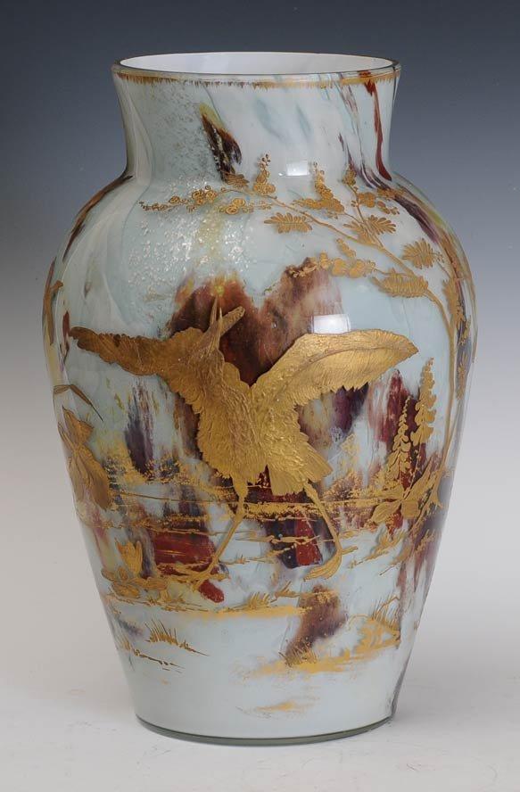 Large Victorian Art Glass Vase