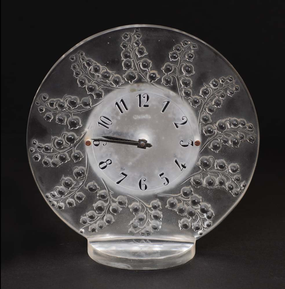 Lalique Table Clock